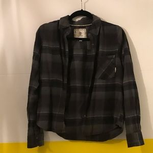 Black and Grey Element Flannel